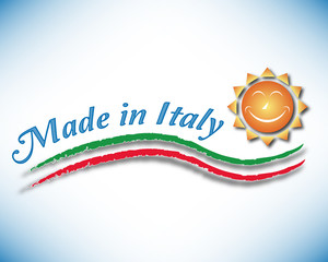 Made in Italy with happy sun