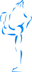 Blue figure skater icon