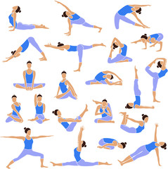 Yoga set icons