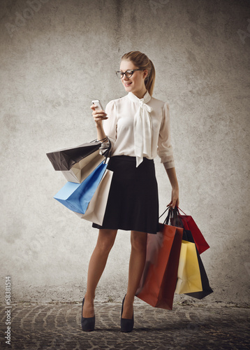A Girl and her Shoppers