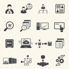 Business Finance and Information technology icons