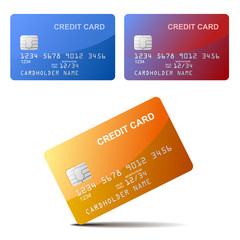Realistic vector Credit Card