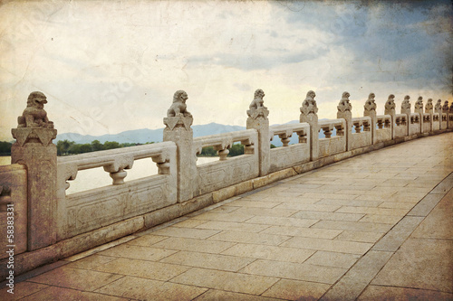 Foto op Aluminium Beijing The Bridge of 17 arches in Beijing - Summer Palace