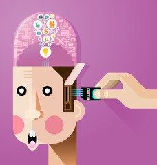Creative brain concept vector