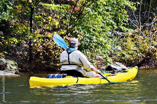 Man in Yellow Kayak