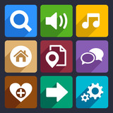 Multimedia flat icons set 4