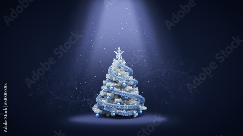 Merry Christmas and Happy New Year Greeting intro card template.