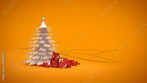 Merry Christmas and Happy New Year Greeting intro card template