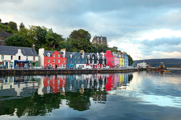 UK Western Scotland Isle of Mull Colorful town of Tobermory - ca