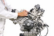 V型エンジンの整備
