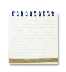 single face notebook on white background