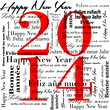 2014 happy new year words in many languages;