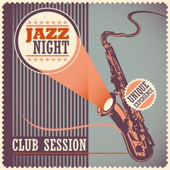 Vintage jazz poster.