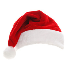 Santa hat isolated in white background