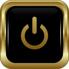 Black gold power button.