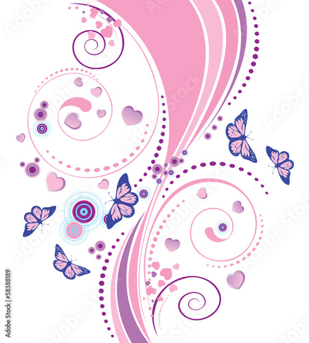 Soft pink floral ornament