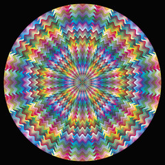 Vector Color Circle with 216 colors