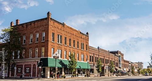 Small Town Main Street - 58389575