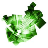 green abstract speed collage