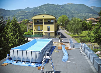 Installation of a swimming pool