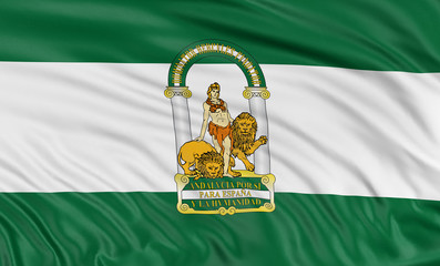 3D Andalusia flag