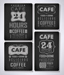 set of coffee, cafe label, set of typographic elements