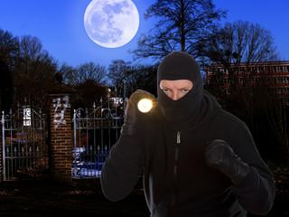 Einbrecher im Mondschein