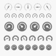 Different phases of speedometer icons