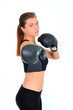female isolated boxing sports