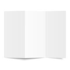 Broschüre - weiß geknickt