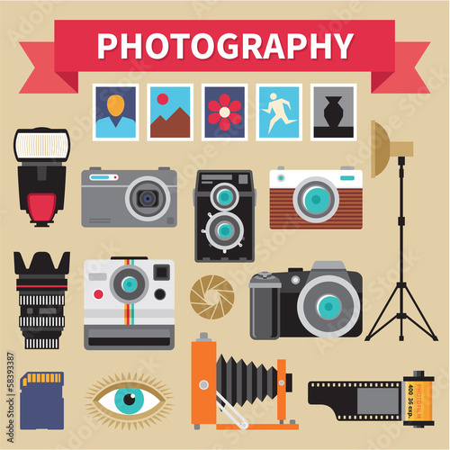 Photography - Icons Vector Set - Creative Design Pictures