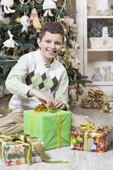 Eager to open Christmas gift