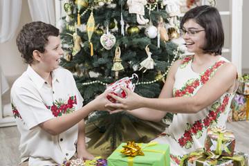 Sharing Christmas gifts