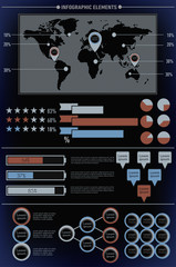 Modern elements of info graphics