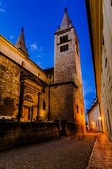 View of narrow Jirska Street in Prague Castle