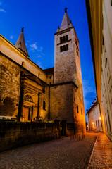 View of narrow Jirska Street in Prague Castle