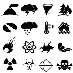 Disaster icon set