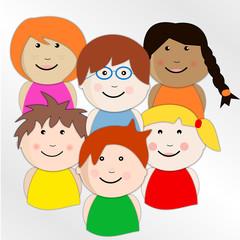Petit groupe d'enfants