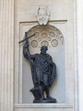 St. Petersburg. Statue of prince Vladimir in a niche of the Kaza
