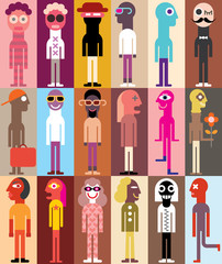 Group of People vector illustration