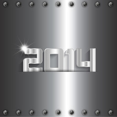 Metallic New Year background