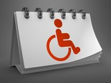Desktop Calendar with Disabled Icon.