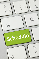 Schedule. Keyboard