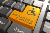 Rehabilitation Counseling for Disabled on Button.
