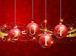 Happy New year baubles background