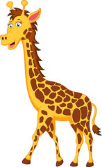funny giraffe cartoon character