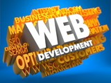 Web Development. Wordcloud Concept.