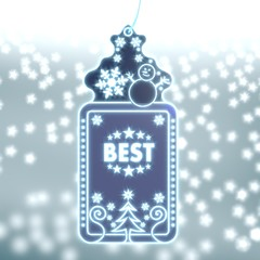magic christmas label with best sticker