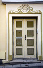 Vintage door in Tallinn