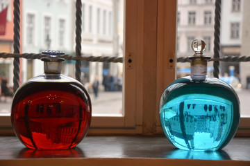 Two alchemical bottles